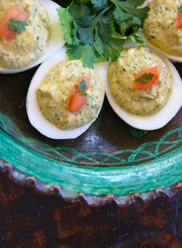 Cilantro Deviled Eggs