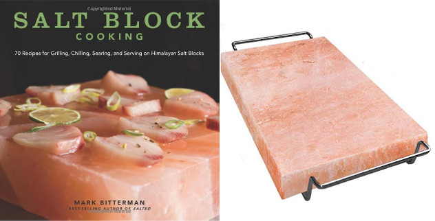 Pink salt block and salt block cookbook