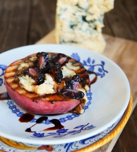 Kerrygold Cashel Blue Grilled Peaches with Honey-Balsamic Glaze