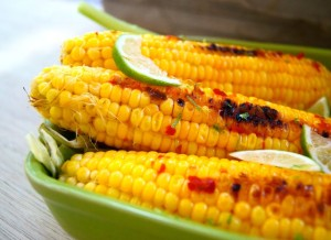 Grilled Chile-Lime Corn on the Cob Recipe and Little Something Sweet . . .  | Cooking On The Weekends