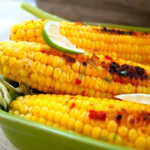 Grilled Chile-Lime Corn on the Cob Recipe and Little Something Sweet . . .