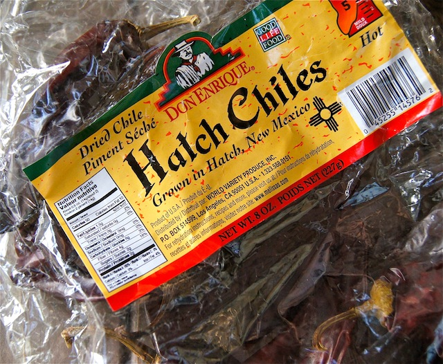 Bag of Dried Hatch Chiles.