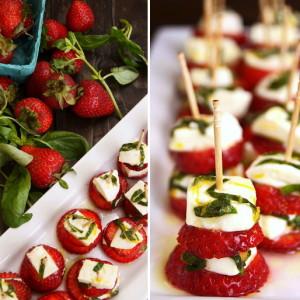 Lemon-Basil Strawberry Caprese Recipe