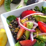Meyer Lemon-Black Quinoa Plum and Avocado Salad Recipe
