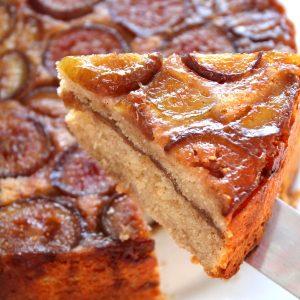 Upside Down Fresh Fig Coffee Cake