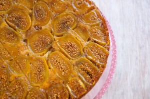 Fig Upside Down Coffee Cake Recipe