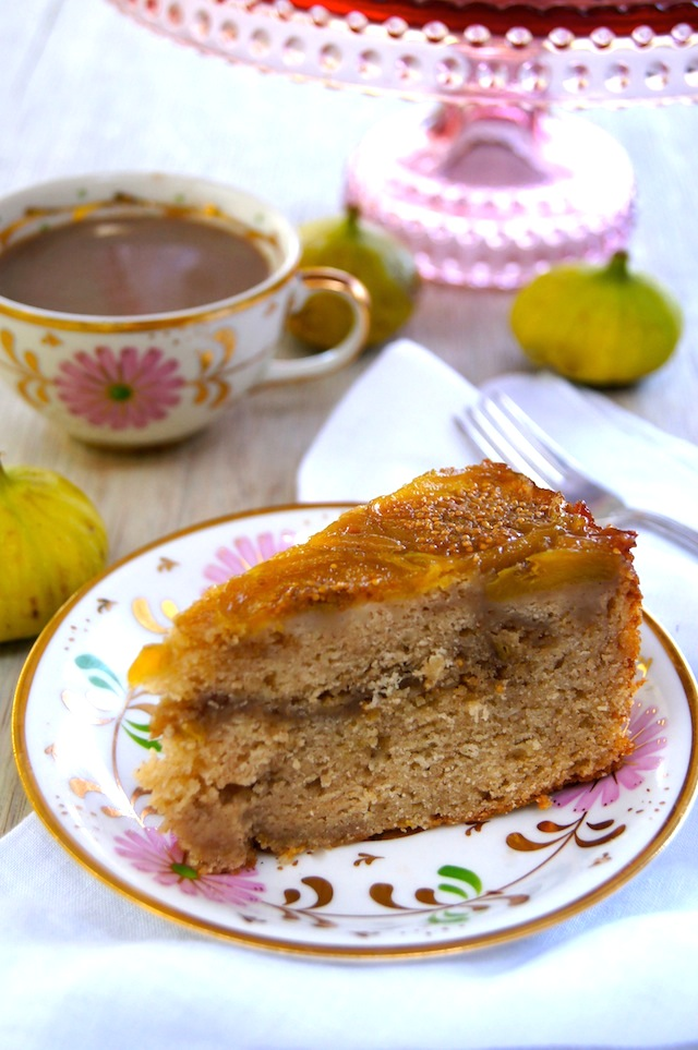 Fig Up Side Down Coffee Cake