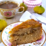 Up Side Down Fig Coffee Cake Recipe