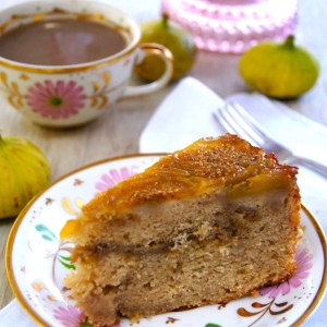 Fig Up Side Down Coffee Cake Recipe