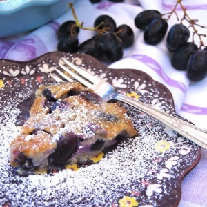 Black Muscato Grape Flaugarde Recipe {Gluten-Free}