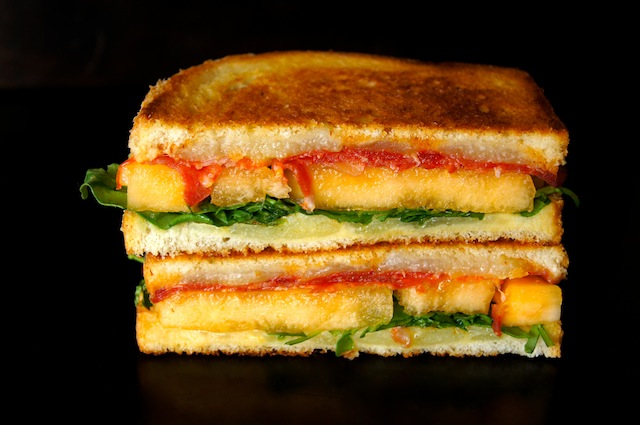 ... image for Sugar Kiss Melon and Chorizo-Manchego Grilled Cheese Recipe