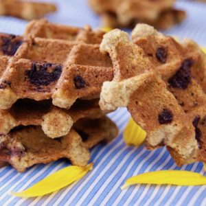 Waffle Cookies with Chocolate and Pecans