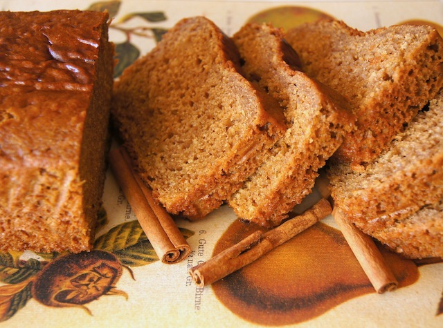 Sliced Organic Palm Sugar Bread with cinnamon sticks