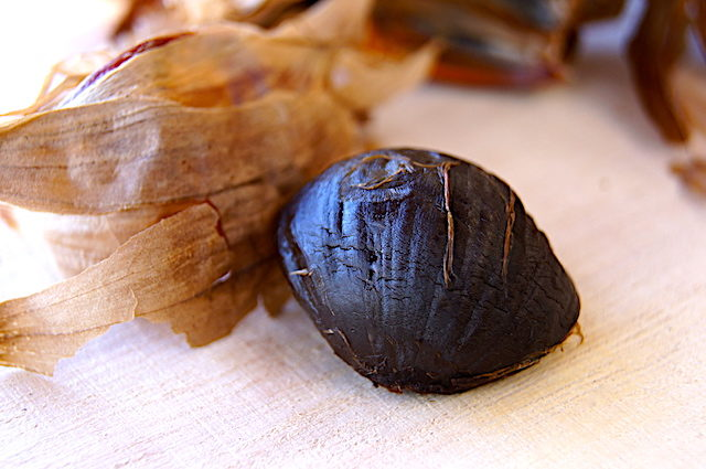 one peeled clove of black garlic