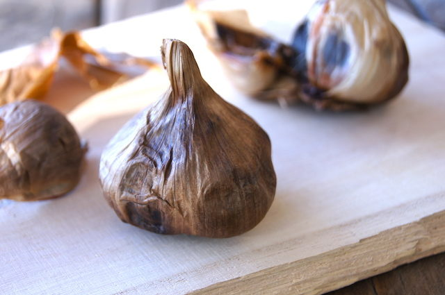 one whole head of black garlic