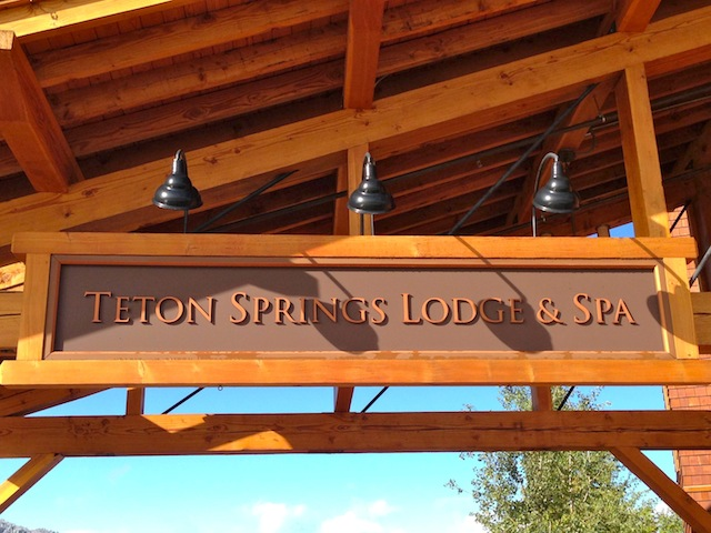 Teton Springs Lodge sign out front