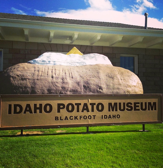 Idaho Potato Harvest Tour Day One, in front on the Idaho Potato Museum in Blackfood Idaho