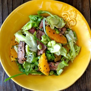 Sesame Orange Steak Salad Recipe