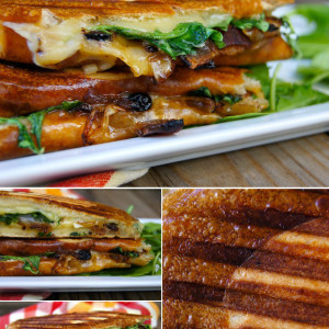 Dubliner Panini with Bacon-Blueberry Caramelized Onions