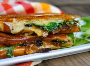 Dubliner Panini with Bacon-Blueberry Caramelized Onions | Cooking On The Weekends