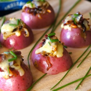 Mini Red Potato Appetizer with Cranberries