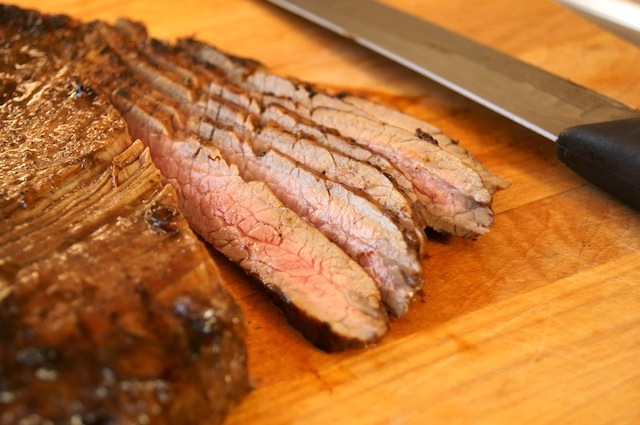 Grilled Coffee Balsamic Flank Steak