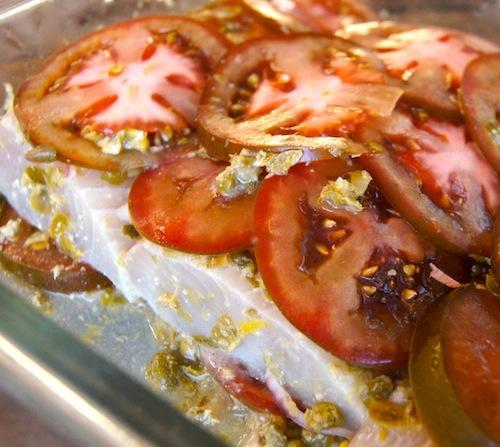 Marinated Baked Mahi Mahi on a sheet pan