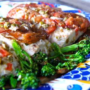 Lemony Tomato Caper Marinated Mahi Mahi Recipe