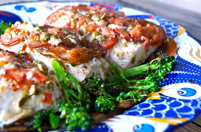 Post image for Lemony Tomato Caper Marinated Mahi Mahi Recipe