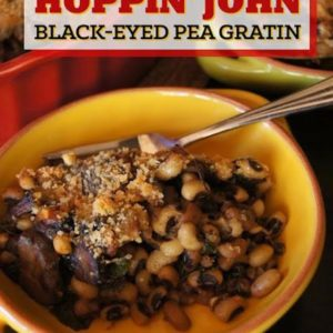 New Year's Hoppin' John Black-Eyed Pea Gratin