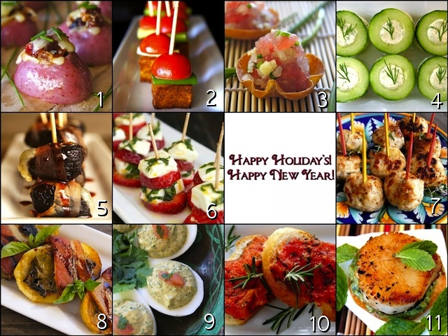 Holiday hors d 39 oeuvre party recipes 2013 weekend recipes for New year s eve hors d oeuvres recipes