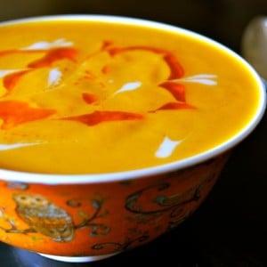 Vegan Coconut Spiced Carrot Soup Recipe