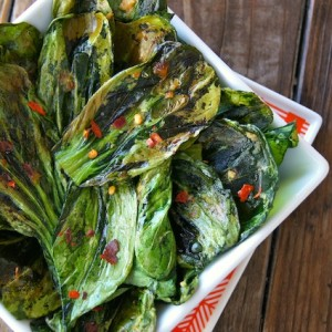 Crispy Garlic Ginger Bok Choy Recipe