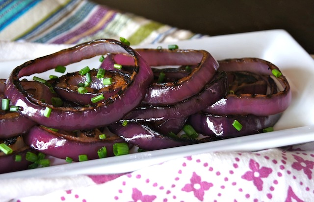 Smoky Grilled Red Onions