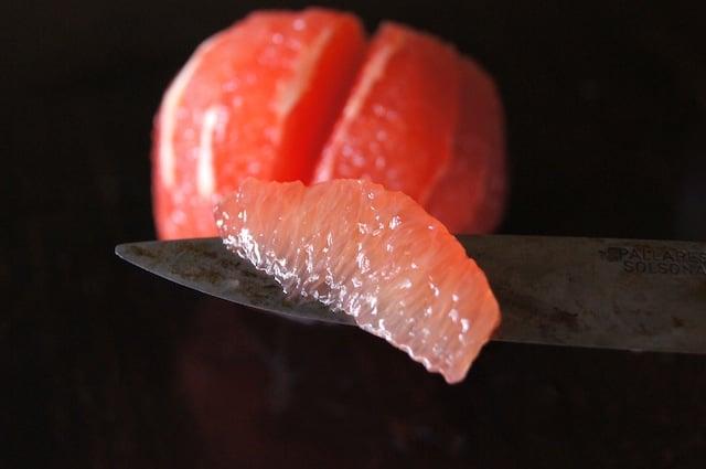 citrus supreme on a knife