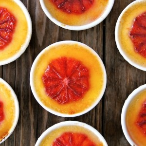 Valentine's Day Dessert Recipe:  Blood Orange-Champagne Crème Brûlée