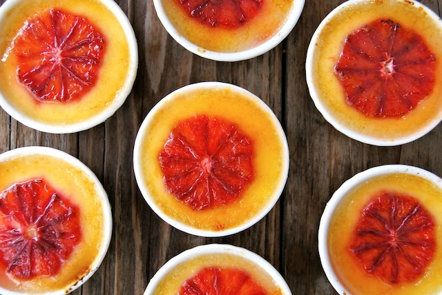 Valentine's Day Dessert Recipe:  Blood Orange-Champagne Creme Brûlée | Cooking On The Weekends (http://www.cookingontheweekends.com)