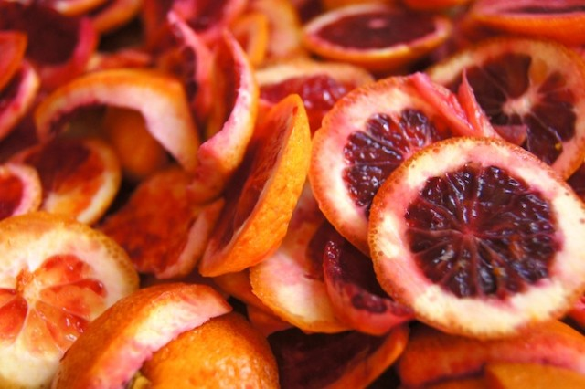 blood orange peels