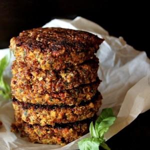 Crispy Red Quinoa Almond-Tomato Burger Recipe
