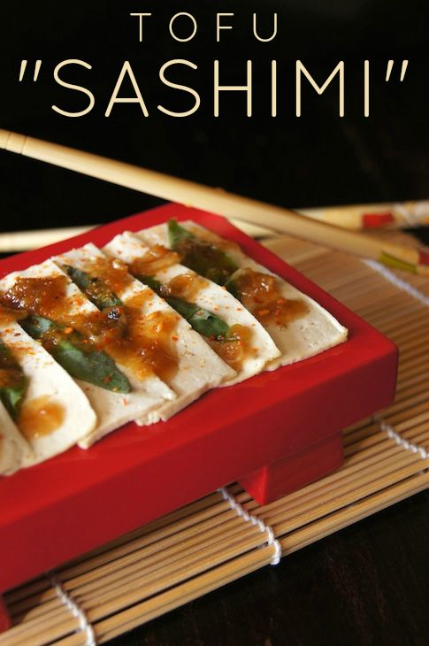 "Tofu ""Sashimi"" Recipe - Tofu like you've never had it before, and it's AMAZING!"