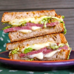 St. Patrick's Day Corned Beef Grilled Cheese Recipe