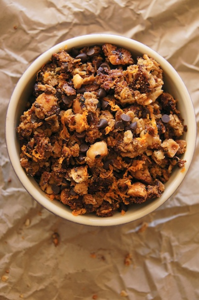 Hazelnut-Orange Granola Recipe - you'll wish it was a bottomless bowl. So good!