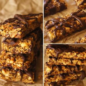Roasted Hazelnut-Orange & Chocolate Granola Bar Recipe