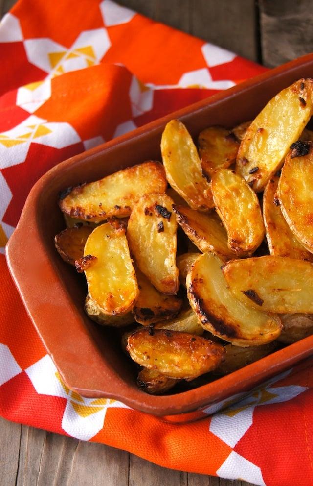 Garlic-Onion Crispy Fingerling Potatoes
