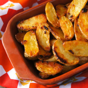 Crispy Onion Fingerling Potatoes