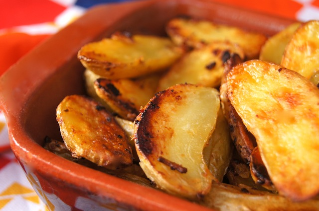 Garlic-Onion Crispy Fingerling Potatoes