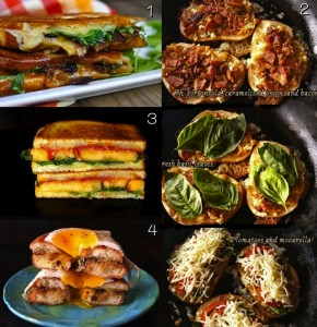 Top Ten Grilled Cheese Sandwich Recipes for Grilled Cheese Month | cookingontheweekends.com
