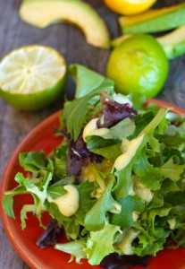 Creamy Lemon-Lime Avocado Salad Dressing Recipe | Cooking On The Weekends