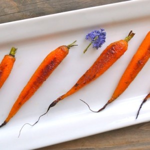 Friday Flowers: Ceanothus and Cardamom-Honey Roasted Baby Carrot Recipe