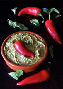 Roasted Red Fresno Pepper Pesto Recipe